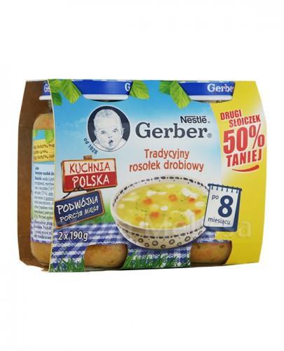 GERBER Tradycyjny rosołek drobiowy po 8 m-cu - 2 x 190 g - Apteka internetowa Melissa