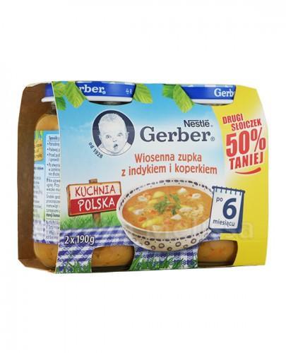 GERBER KUCHNIA POLSKA Wiosenna zupka z indykiem i koperkiem po 6 miesiącu - 2 x 190 g - Apteka internetowa Melissa
