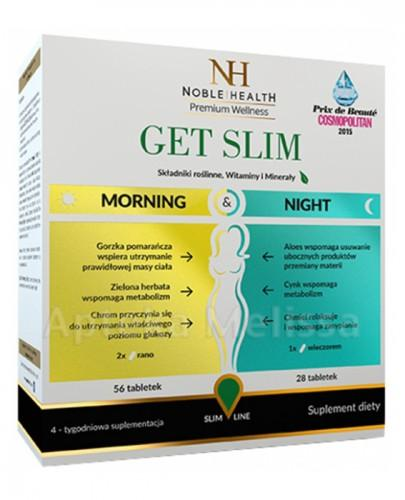 NOBLE HEALTH GET SLIM MORNING&NIGHT - 56 tabl. + 28 tabl. - Apteka internetowa Melissa