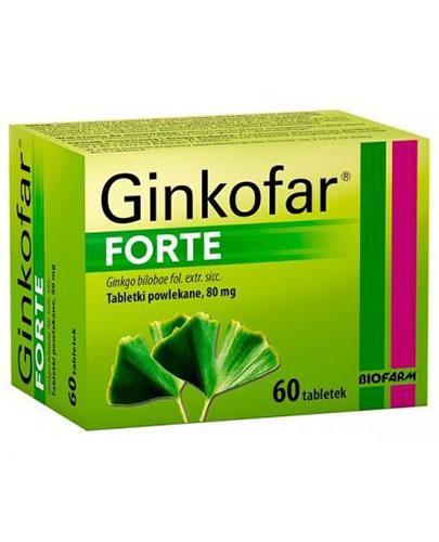 GINKOFAR FORTE - 60 tabl. - Apteka internetowa Melissa
