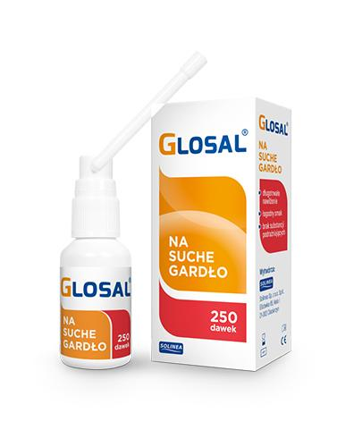 GLOSAL Spray na  suche gardło - 250 dawek - Apteka internetowa Melissa