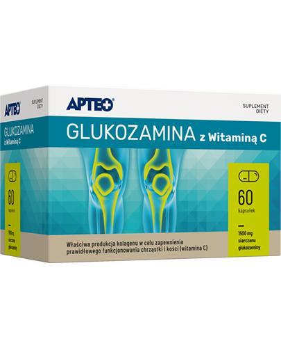 APTEO Glukozamina z witaminą C - 60 kaps.  - Apteka internetowa Melissa