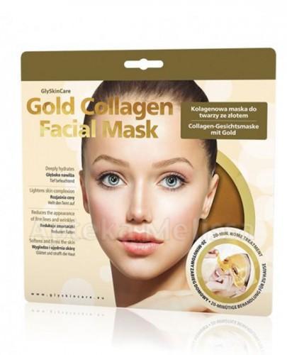 GLYSKINCARE Gold Collagen Facial Mask Kolagenowa maska do twarzy ze złotem - 1 szt.  - Apteka internetowa Melissa