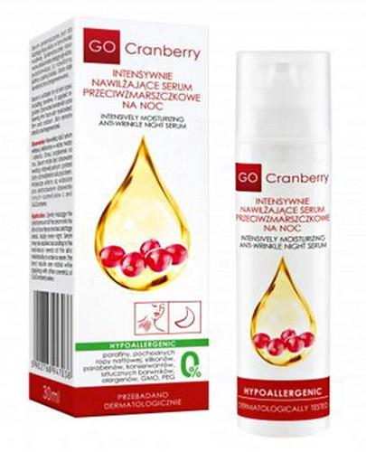 Go Cranberry Intensywnie nawilżające serum przeciwzmarszczkowe na noc - 30 ml - cena, opinie, skład - Drogeria Melissa