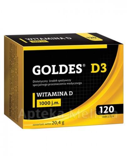 GOLDES D3  1000 j.m - 120 tabl. Data ważności: 2017.06.30 - Apteka internetowa Melissa