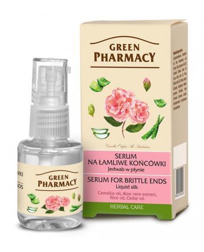 GREEN PHARMACY Jedwab w płynie serum na łamliwe włosy - 30 ml