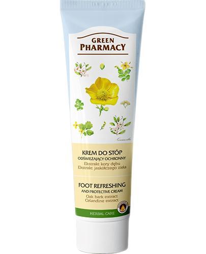 GREEN PHARMACY Krem do stóp odświeżający ochronny ekstrakt z kory dębu ekstrakt z jaskółczego ziela - 100 ml - Apteka internetowa Melissa