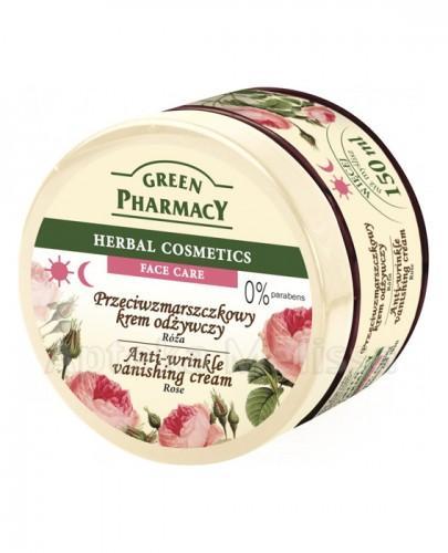 GREEN PHARMACY Przeciwzmarszczkowy krem odżywczy róża - 150 ml - Apteka internetowa Melissa