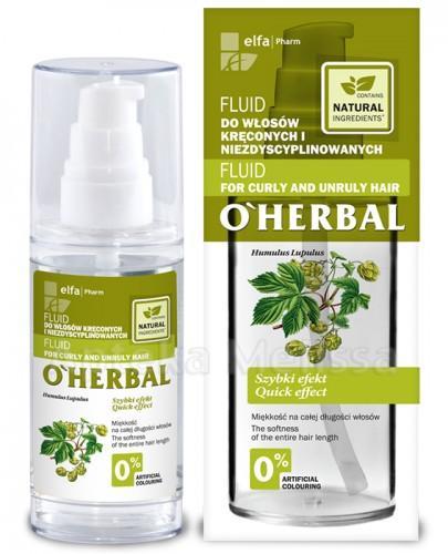 O`HERBAL Fluid do włosów kręconych i niezdyscyplinowanych z ekstraktem z chmielu - 50 ml - Apteka internetowa Melissa