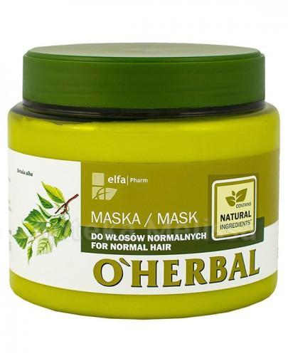 O`HERBAL Maska do włosów normalnych z ekstraktem z brzozy - 500 ml - Apteka internetowa Melissa
