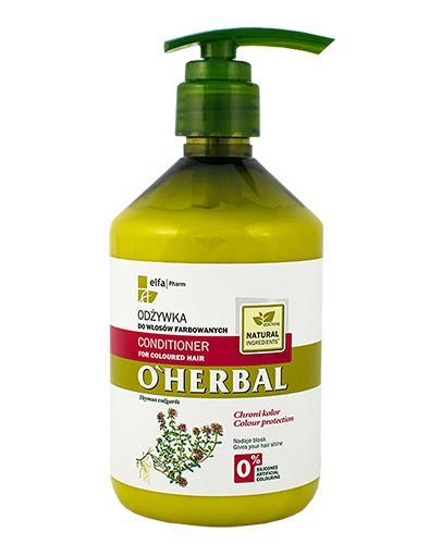 O`HERBAL Odżywka do włosów farbowanych z ekstraktem z macierzanki tymianku - 500 ml - Apteka internetowa Melissa