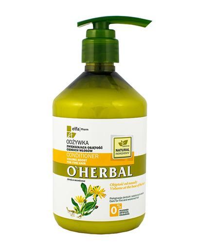 O`HERBAL Odżywka zwiększająca objętość cienkich włosów z ekstraktem z arniki - 500 ml - Apteka internetowa Melissa