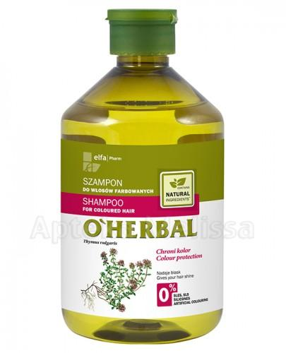 O`HERBAL Szampon do włosów farbowanych z macierzanki tymianku - 500 ml - Apteka internetowa Melissa