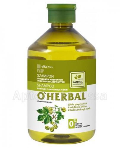 O`HERBAL Szampon do włosów kręconych i niezdyscyplinowanych z ekstraktem z chmielu - 500 ml - Apteka internetowa Melissa