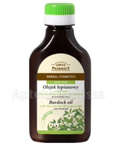 GREEN PHARMACY Olejek przeciwłupieżowy łopianowy z olejkami drzewa herbacianego i rozmarynu - 100 ml - Apteka internetowa Melissa