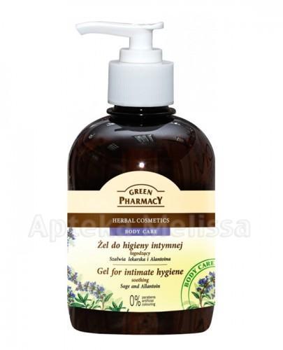 GREEN PHARMACY Żel do higieny intymnej łagodzący szałwia lekarska i alantoina - 370 ml - Apteka internetowa Melissa
