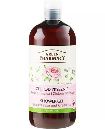 GREEN PHARMACY Żel pod prysznic róża piżmowa i zielona herbata - 500 ml - Apteka internetowa Melissa