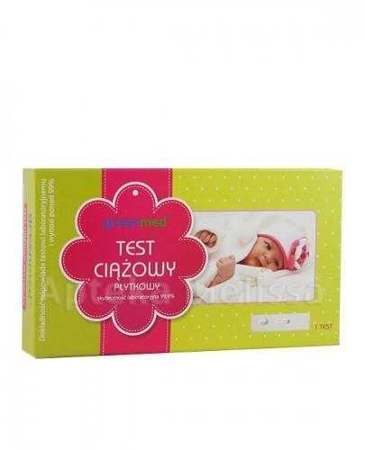 GREENMED Płytkowy test ciążowy - 1 szt. - Apteka internetowa Melissa