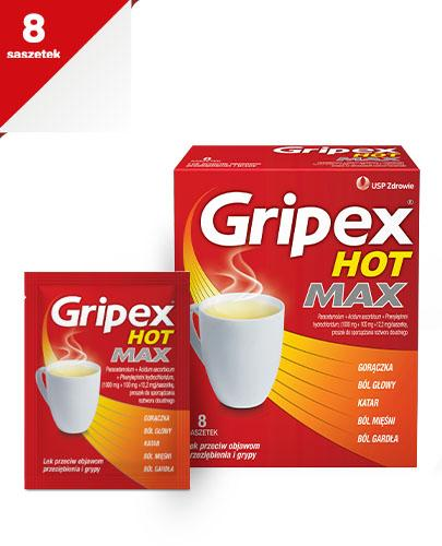 GRIPEX HOT MAX - 8 sasz. - Apteka internetowa Melissa