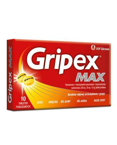 GRIPEX MAX - 10 tabl. - Apteka internetowa Melissa