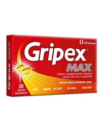 GRIPEX MAX - 20 tabl. - Apteka internetowa Melissa