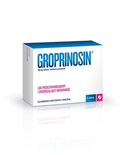 GROPRINOSIN 500 mg - 20 tabl. Lek przeciwwirusowy - cena, ulotka, wskazania