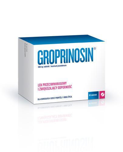 Groprinosin 500 mg Lek przeciwwirusowy i immunomodulacyjny - 50 tabl. - Apteka internetowa Melissa