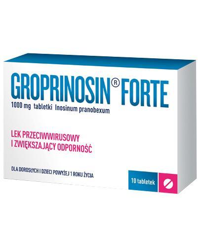 Groprinosin Forte - 10 tabl. - cena, opinie, właściowści