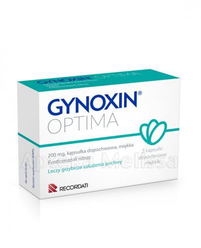 GYNOXIN OPTIMA 200 g - na grzybicze zapalenie pochwy - 3 kapsułki dopochwowe - cena, opinie, dawkowanie - Apteka internetowa Melissa