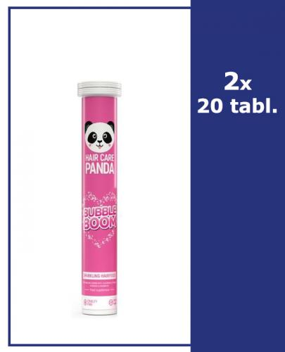HAIR CARE PANDA BUBBLE BOOM - 2 x 20 tab. mus. - Apteka internetowa Melissa