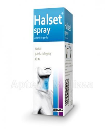 HALSET Aerozol do gardła - 30 ml - Apteka internetowa Melissa