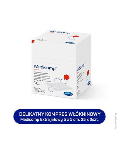 HARTMANN MEDICOMP EXTRA Kompresy jałowe 5 cm x 5 cm - 50 szt. - cena, stosowanie, opinie  - Apteka internetowa Melissa