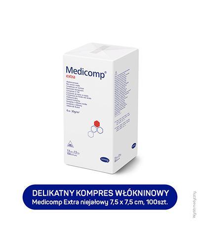 HARTMANN MEDICOMP EXTRA Kompresy niejałowe 7,5 cm x 7,5 cm - 100 szt. - cena, stosowanie, opinie
