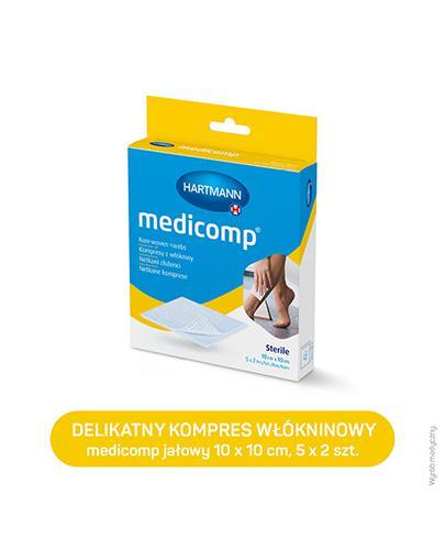 Hartmann Medicomp Kompresy z włókniny 10 cm x 10 cm - 10 szt. - cena, wskazania, właściwości - Drogeria Melissa