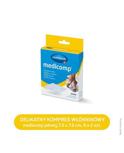 Hartmann Medicomp Kompresy z włókniny 7,5 cm x 7,5 cm - 10 szt. - cena, opinie, właściwości