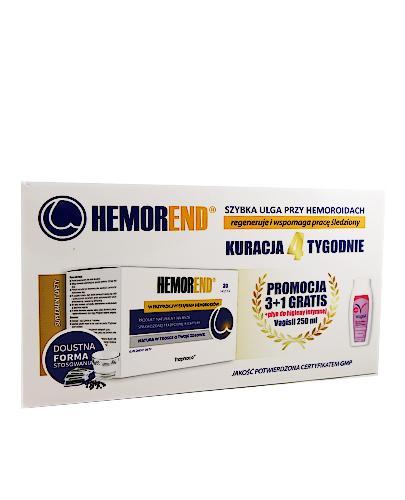HEMOREND - 4 x 20 sasz + VAGISIL Płyn do higieny intymnej GRATIS! Szybka ulga przy hemoroidach. - Apteka internetowa Melissa