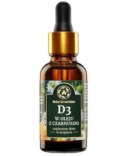 Herbal Monasterium D3 w oleju z czarnuszki - 30 ml - cena, opinie, wskazania - Drogeria Melissa