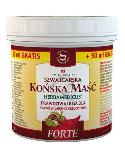HERBAMEDICUS Końska maść rozgrzewająca forte - 250 ml + 50 ml - Apteka internetowa Melissa