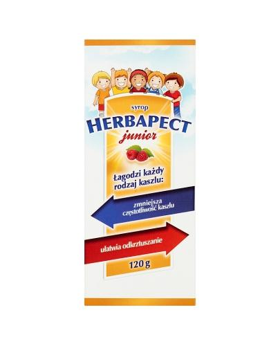 HERBAPECT JUNIOR Syrop o smaku malinowym - 120 g - Apteka internetowa Melissa