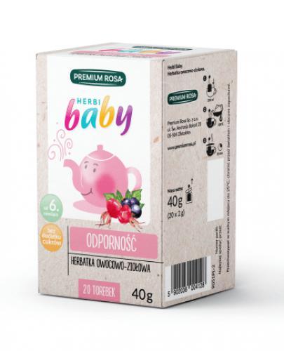 HERBI BABY Herbatka dla dzieci i niemowląt na przeziębienie - 20 sasz. - cena, opinie, właściwości