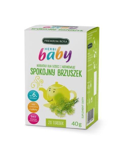 HERBI BABY Herbatka dla dzieci i niemowląt na spokojny brzuszek - 20 sasz. - cena, opinie, właściwości