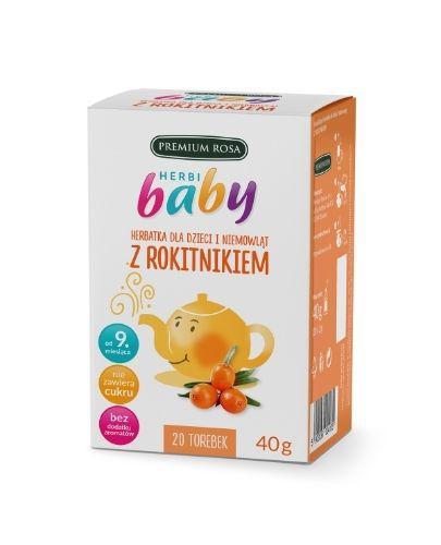 HERBI BABY Herbatka dla dzieci i niemowląt z rokitnikiem - 20 sasz. - cena, opinie, właściwości - Drogeria Melissa
