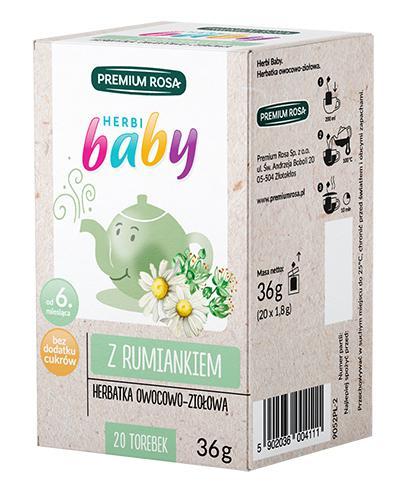 HERBI BABY Herbatka dla dzieci i niemowląt ziołowa - 20 sasz. - cena, opinie, właściwości