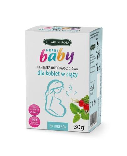 HERBI BABY Herbatka owocowo ziołowa dla kobiet w ciąży - 20 sasz. - cena, opinie, właściwości - Apteka internetowa Melissa