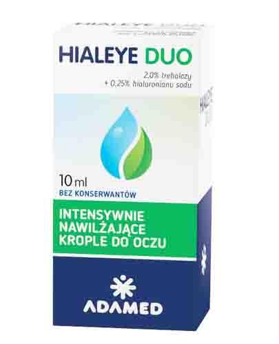 HIALEYE DUO Intensywnie nawilżające krople do oczu - 10 ml - cena, stosowanie, opinie