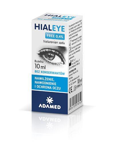 HIALEYE FREE 0,4% Nawilżające krople do oczu - 10 ml - Apteka internetowa Melissa