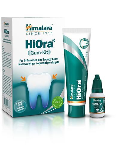 Himalaya HiOra Gum-Kit Pasta do zębów HiOra + Żel HiOra-GA - 50 g + 15 ml Na krwawiące dziąsła - cena, opinie, właściwości  - Drogeria Melissa