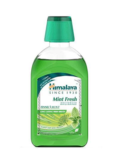 Himalaya Mint Fresh Płyn do płukania jamy ustnej - 450 ml - cena, opinie, właściwości - Drogeria Melissa