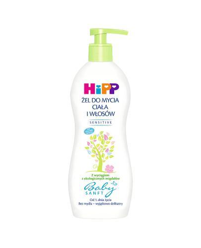 HIPP BABYSANFT Żel do mycia ciała i włosów - 400 ml  - Apteka internetowa Melissa
