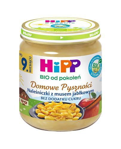 HIPP BIO DOMOWE PYSZNOŚCI Naleśniczki z musem jabłkowym po 9 miesiącu - 200 g Data ważności: 2018.10.30 - Apteka internetowa Melissa